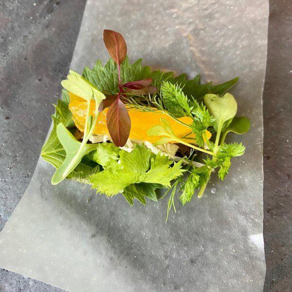 発酵茶葉とハーブの生春巻き